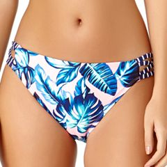 Juniors' California Sunshine Side Strappy Hipster Bikini Bottoms