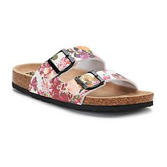 Women's Mudd® Printed Double Buckle Cork Sandals