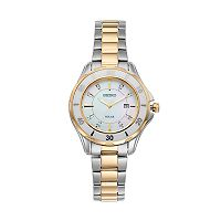 Seiko Women's Diamond & Ceramic Two Tone Solar Watch - SUT338