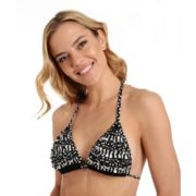 Women's Cyn and Luca Ruffle Triangle Halter Bikini Top