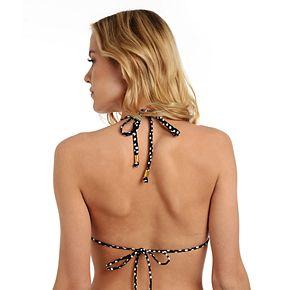 Women's Cyn and Luca Ruffle Triangle Halter Bikini Top