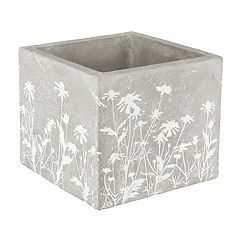 Gerson Large Indoor / Outdoor Embossed Floral Planter