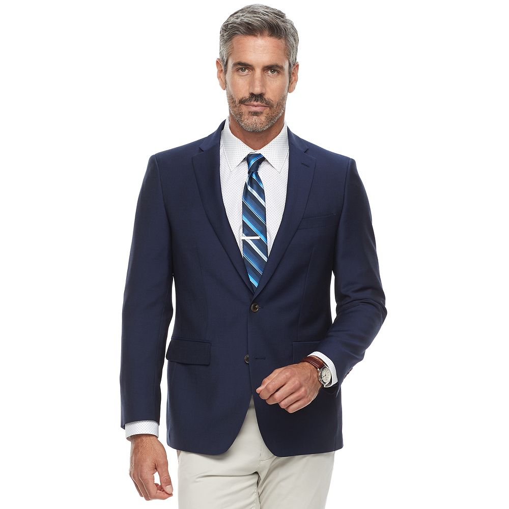 Jean-Paul Germain Modern-Fit Wool-Blend Navy Sport Coat