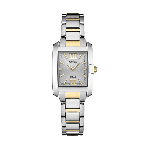 Seiko Women's Two Tone Stainless Steel Solar Watch - SUP379
