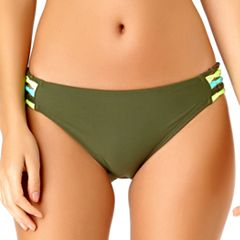Juniors' California Sunshine Macrame Hipster Bikini Bottoms