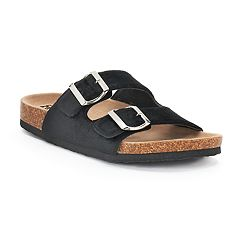 Women's Mudd® Velvet Double Buckle Cork Sandals