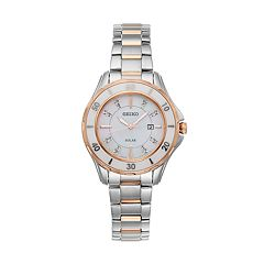 Seiko Women's Diamond & Ceramic Two Tone Solar Watch - SUT340