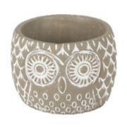 Gerson Small Indoor / Outdoor Cement Owl Planter