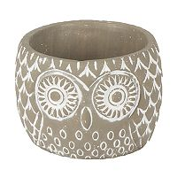 Gerson Small Indoor / Outdoor Cement Owl Planter