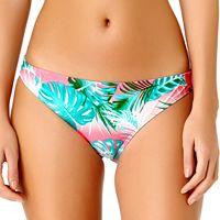 Juniors' California Sunshine Palm Leaf Hipster Bikini Bottoms