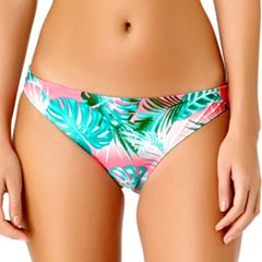 Juniors' California Sunshine Palm Leaf Hipster Bikini Bottoms