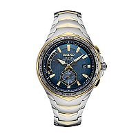 Seiko Men's Coutura Two Tone Stainless Steel Radio Sync Solar Watch - SSG020