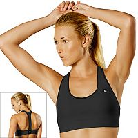 Champion Bra: Absolute Workout II Medium-Impact Racerback Sports Bra B9504P