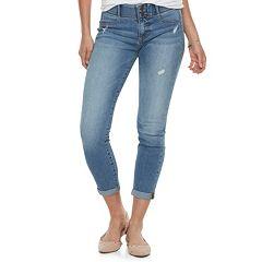 Women's Apt. 9® Tummy Control Cuffed Midrise Capri Jeans