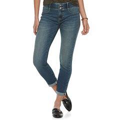 Women's Apt. 9® Tummy Control Cuffed Capri Jeans