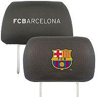 FANMATS FC Barcelona 2-Piece Head Rest Covers