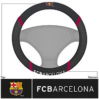 FANMATS FC Barcelona Steering Wheel Cover
