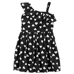 Girls 4-8 Carter's Heart Print Asymmetrical Dress