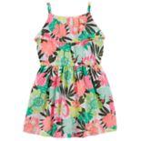 Girls 4-8 Carter's Tropical Floral Print Dress