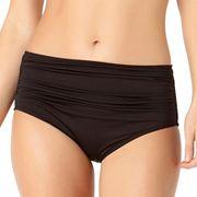 Women's Cole of California High Waist Shirred Bikini Bottoms