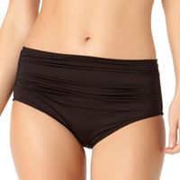 Women's Cole of California High Waist Shirred Bikini Bottoms