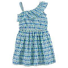 Girls 4-8 Carter's Asymmetrical Abstract Print Dress