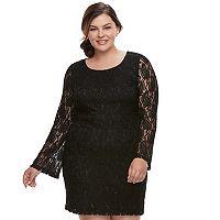 Juniors' Plus Size Liberty Love Lace Bodycon Dress