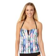 Women's Cole of California D-Cup Printed Bandeaukini Top