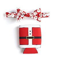 Men's Noel Pre-Tied Santa Bow Tie and Drink Holder Set