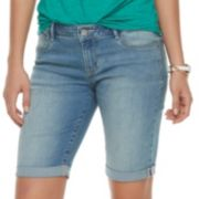 Women's Apt. 9® Cuffed Bermuda Midrise Jean Shorts