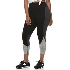 Juniors' Plus Size SO® Colorblock Yoga Capris