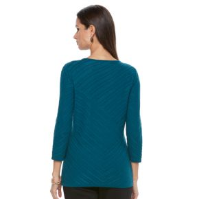 Women's Dana Buchman Diagonal Stripe Sweater