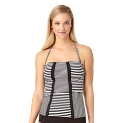 Women's Cole of California D-Cup Stripe Bandeaukini Top