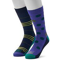 Men's Funky Socks 2-pack Crew Socks