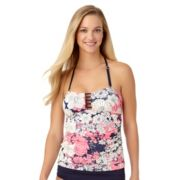 Women's Cole of California D-Cup Crochet Bandeaukini Top