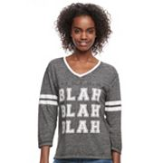 Juniors' 'Blah Blah Blah' Graphic Tee