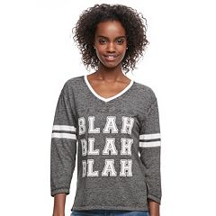 Juniors' 'Blah Blah Blah' Graphic Tee