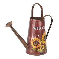 Gerson Red Indoor / Outdoor Decorative Farmhouse Watering Can
