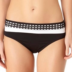 Women's Cole of California Mesh Banded Bikini Bottoms