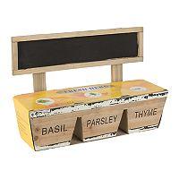 Gerson Basil, Parsley & Thyme Herb Garden 4-piece Set