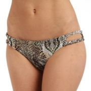 Women's Cyn and Luca Python Scoop Bikini Bottoms