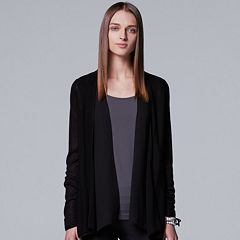 Women's Simply Vera Vera Wang Mixed-Media Flyaway Cardigan