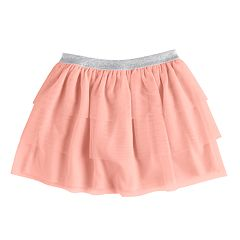 Girls 4-10 Jumping Beans® Tiered Mesh Skort