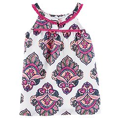 Girls 4-8 Carter's Fringe Trim Medallion Printed Tank Top