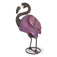 Gerson Solar Powered Light-Up Pink Flamingo Garden Decor