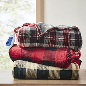 True North by Sleep Philosophy Buffalo Check Oversized Plush Heated Throw