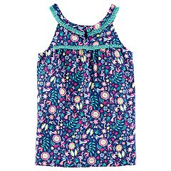 Girls 4-8 Carter's Fringe Trim Multi-Floral Printed Tank Top