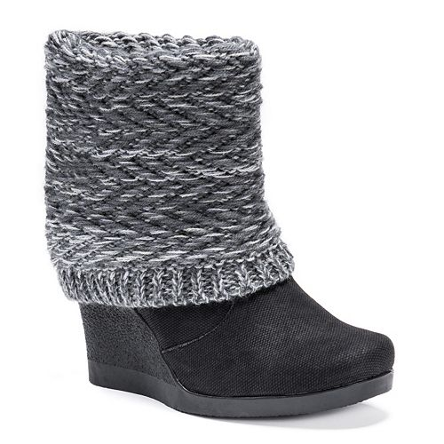 MUK LUKS Sienna Women's Wedge Water Resistant Winter Boots