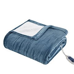 True North by Sleep Philosophy Ultra Soft Reversible Plush Heated Blanket
