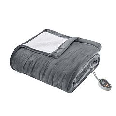 True North by Sleep Philosophy Ultra Soft Reversible Plush Heated Blanket